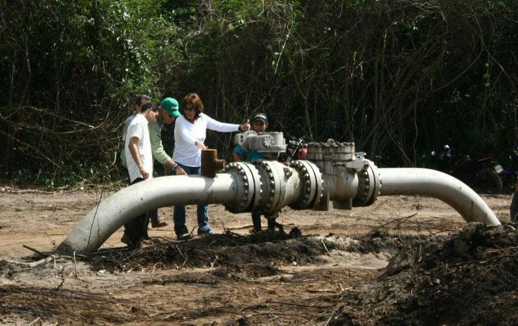 Válvula que explotó en Tabasca. (Foto: Prensa Unidad)