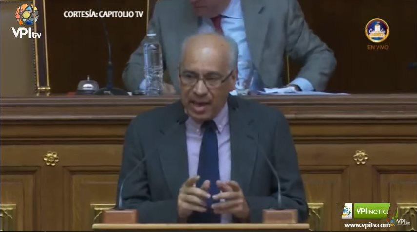 González desmintió que se apliquen políticas destinadas disminuir los gastos en salud de la población (Captura de pantalla VPI Tv).