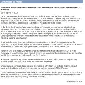 comunicado OEA