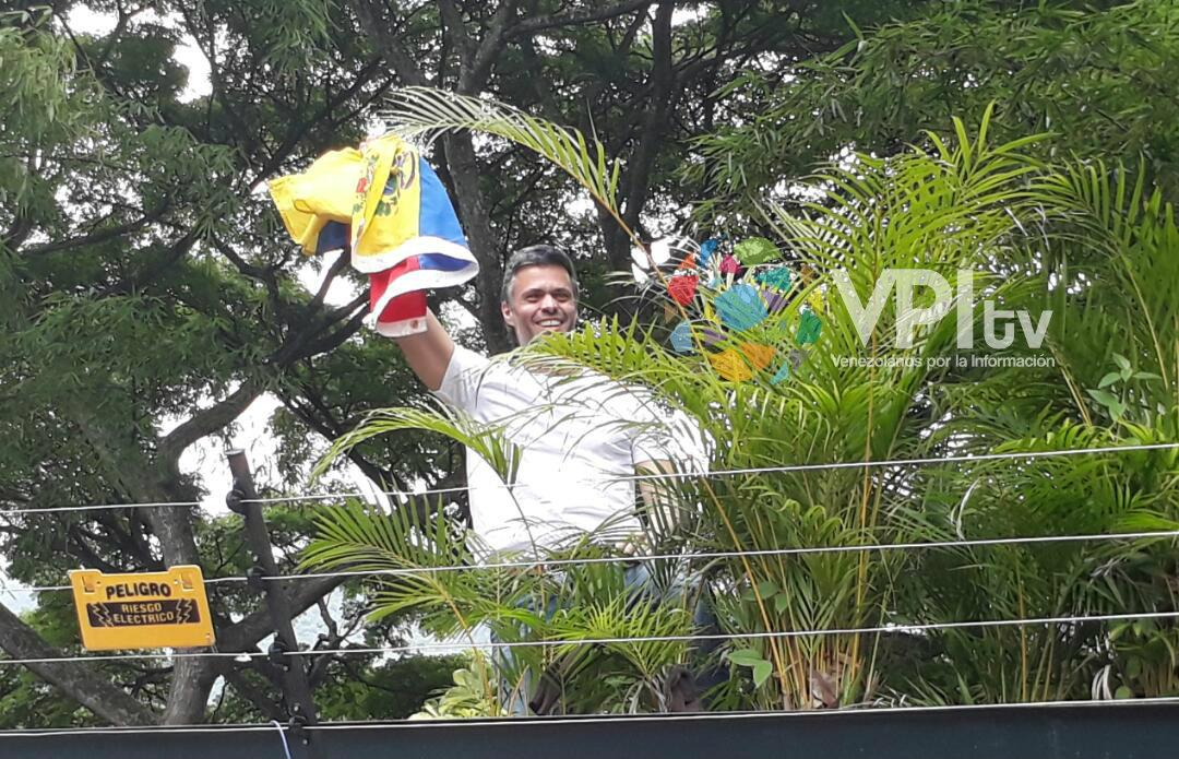 Leopoldo López en casa