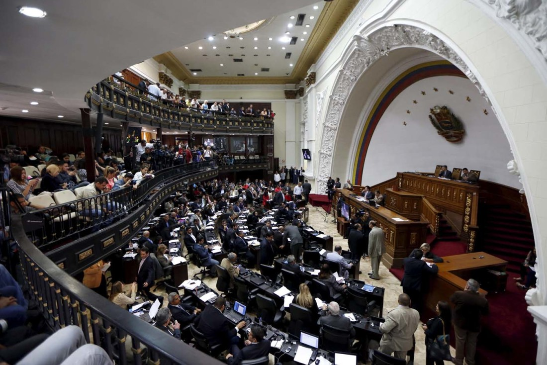 A general view of the Venezuela's National Assembly during a session in Caracas January 19, 2016. REUTERS/Carlos Garcia Rawlins