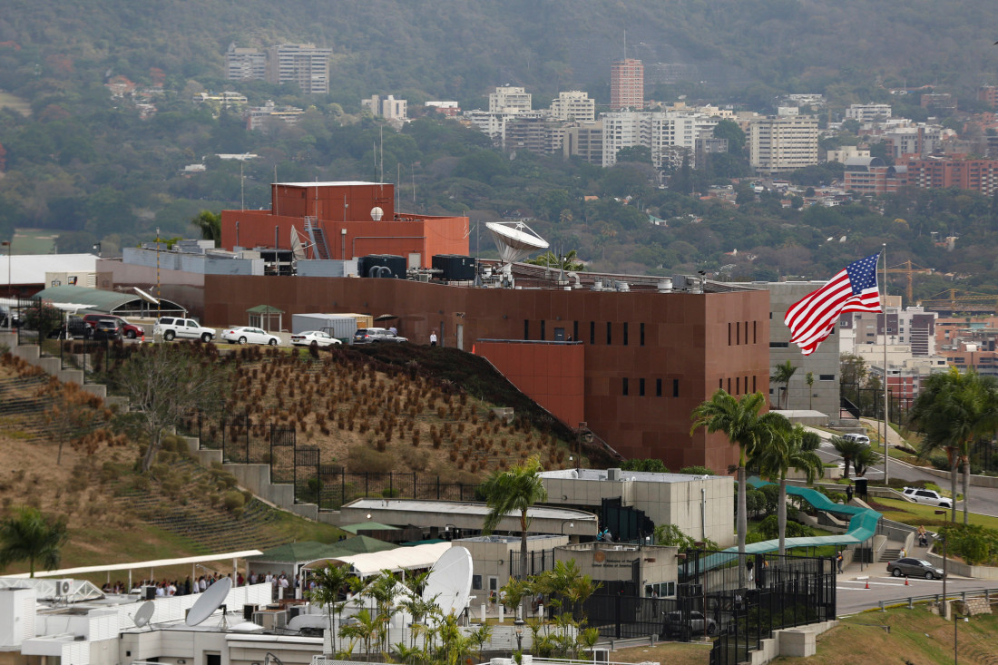 FILE PHOTO: A view shows the U.S. embassy building in Caracas March 4, 2015. REUTERS/Carlos Garcia Rawlins/File Photo